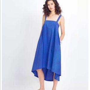 Elk The Label Blue Tablier Cotton Dress Size 12